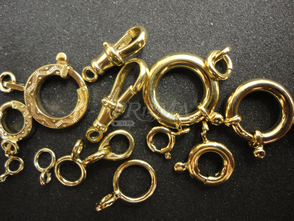 anelli a molla in oro